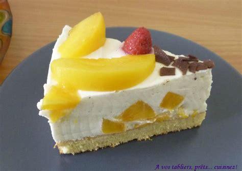pfirsich k 228 sesahnetorte ou quot cheese cake quot aux p 234 ches a vos tabliers pr 234 ts cuisinez