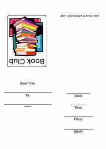 Book Club Invitation Template Printable Pdf Download