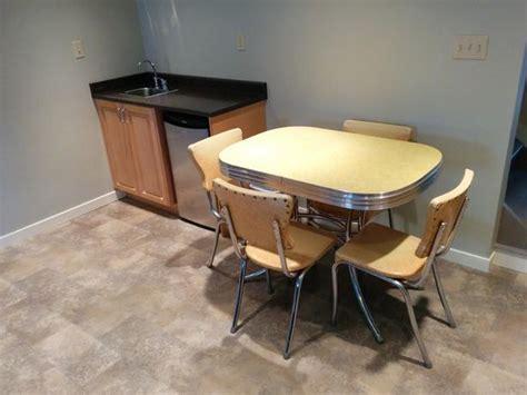 vintage arborite kitchen table chairs set oak bay