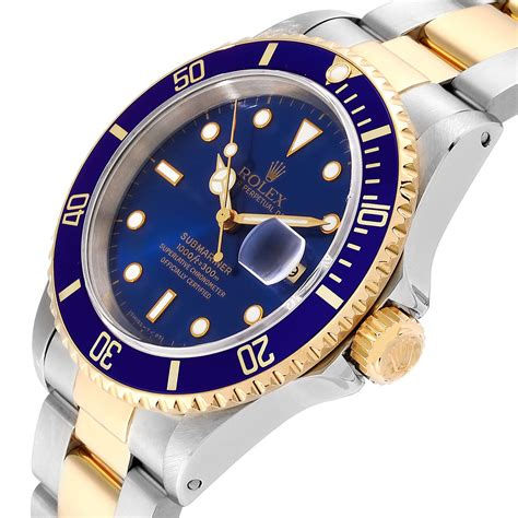 Rolex Submariner 40mm Blue Dial Steel Yellow Gold Mens ...