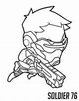Overwatch Coloring Soldier Chibi Genji Reaper Printable Va Hanzo Spray Tracer Bastion Sketch Draw Colorpages Drawings Cool Getdrawings Template Categories sketch template
