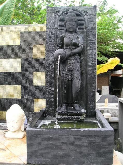 fontaine de jardin mur d eau d 233 esse dewi sri 1m 50 noir