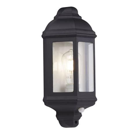 280bk pir outdoor porch wall light black flush
