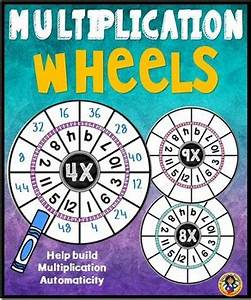 The Multiplication Chart Up To 12 Multiplication Wheels And Times Tables Set By Dp Sharpe Tpt