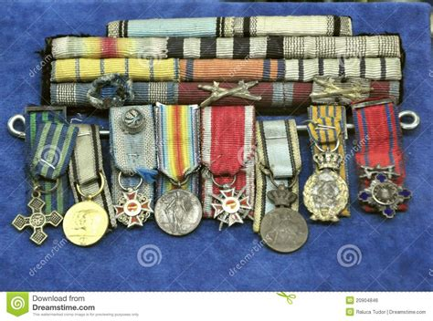 medals   romanian museum editorial photo image