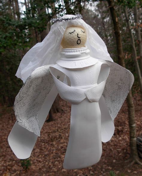 crack of dawn crafts recycled milk jug angel craft