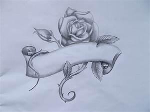 tattoo idea - rose banner by DeliciousRatsTail on DeviantArt