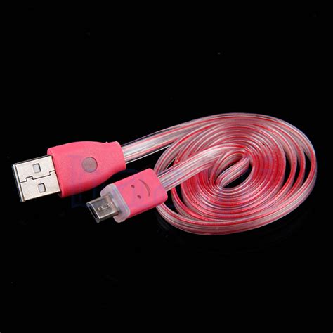 light up usb cable light up led micro usb data sync charger cable for htc lg