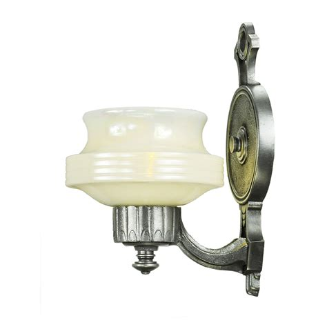 deco streamline style wall sconces pair antique lights