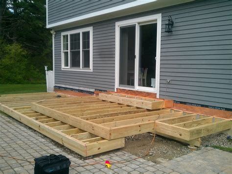 free standing deck framing cantilever deck construction plans house design and