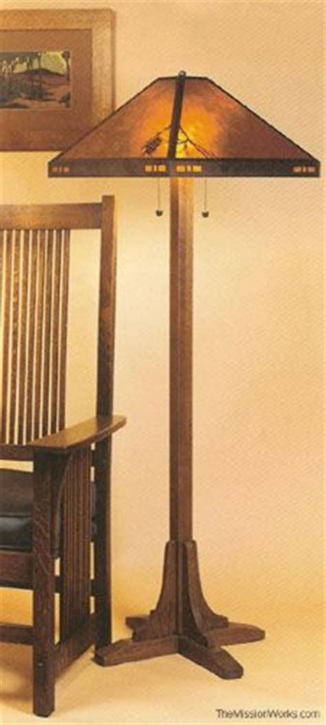 mission style floor lamp plans woodworking projects plans
