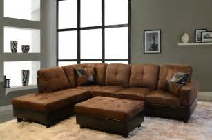 rustic light brown leather tufted sleeper sofa with rectangle gray stained wooden coffee table