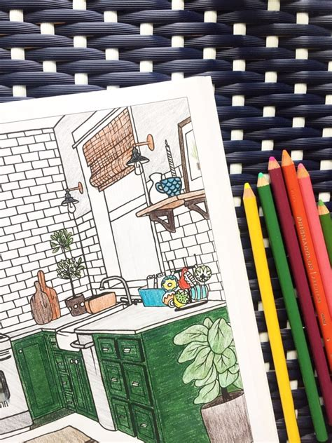 interior design coloring book  inspired room  inspired room