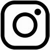 Instagram clipart black and white, Instagram black and ...