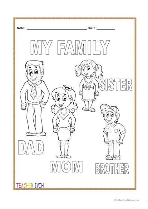 family worksheet  kindergarten family worksheet