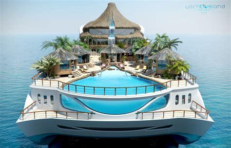 Tropical Island Paradise Super Yacht Concept