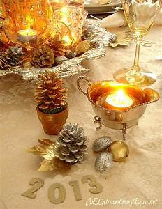 Gold & Silver Table Setting A New Year's Celebration