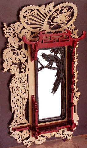 japanese mirror frame scroll  fretwork pattern