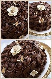 Beautiful ganache rosettes. I really love this way of ...