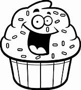 Cupcake Outline Cupcakes Cartoon Coloring Drawing Clipart Pages Amazing Clipartmag Gclipart Drawings Bakery Paintingvalley sketch template