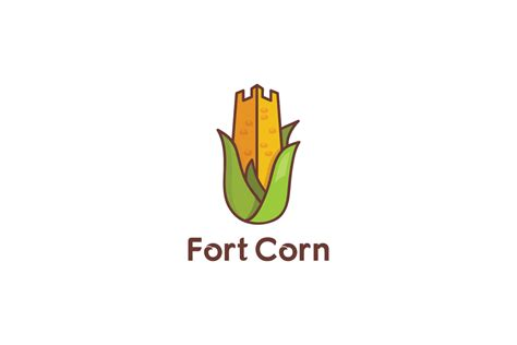 fort corn farming logo design logo cowboy