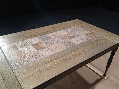 diy dining tables  dine  style tiled coffee table