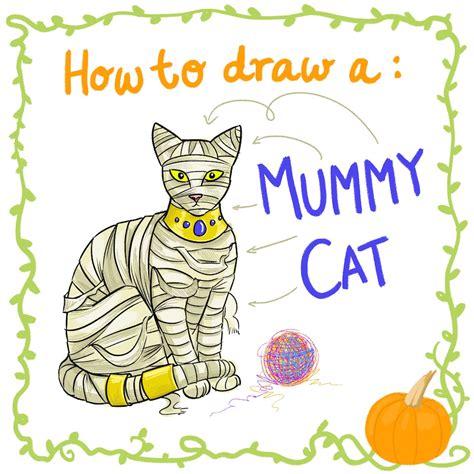 improper books halloween   draw  mummy cat