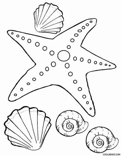 Starfish Coloring Pages Fish Star Printable Sea