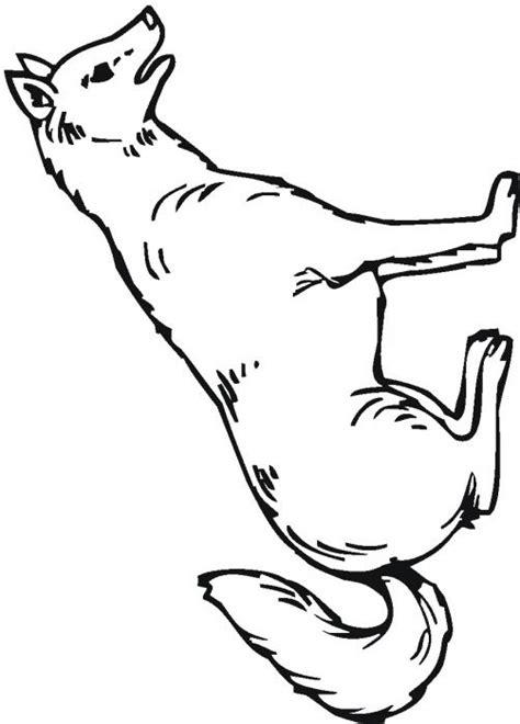 dessin de loup assis imprime le dessin 224 colorier de loup