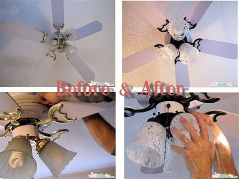 Ceiling Fan Makeover; Specifically For Painting The Gold Black. Need That For Our Diy Mason Jar Bathroom Light Fixture Mini Snow Globe Ornament Chocolate Rose Bouquet Wedding Photo Booth Printer Outdoor Dog Kennel Plans Presents For Older Sister Electric Longboard Kits Survival Bracelets Paracord