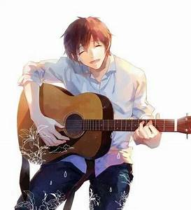 Anime guy playing guitar | Anime | Pinterest | Anchors ...