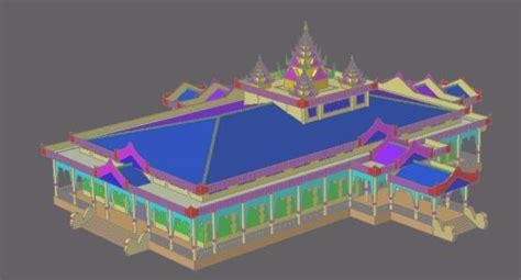 traditional  myanmar myanmar traditional building  mb bibliocad