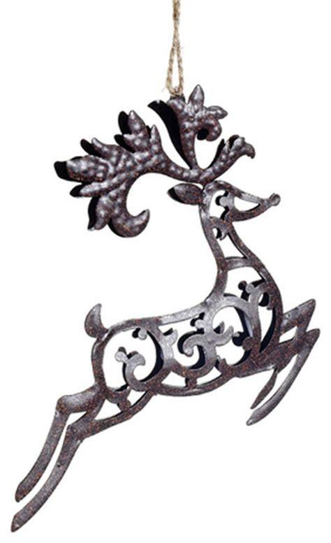 metal reindeer ornament rustic christmas ornaments