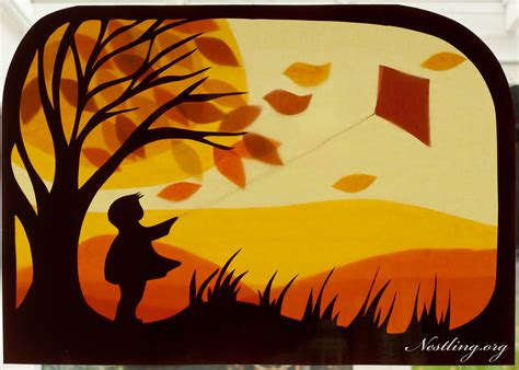 Herbst Fensterbilder Basteln by Herbststimmung Basteln Mit Kindern Nestling