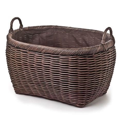 wicker laundry baskets with handles oval wicker laundry basket the basket 1898