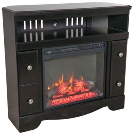 ashley shay corner tv stand  fireplace insert