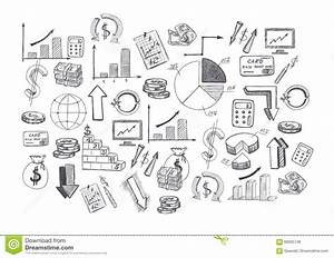 Sketch Of Hand Drawn Graphics Pictures And Diagrams