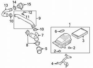 2008 Volkswagen R32 Engine Air Intake Hose  Liter  Connector  Transaxle  Group