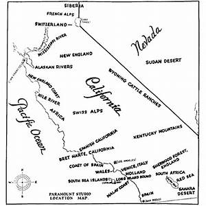 Film Fernseh Location : 1927 paramount studio map of potential film shooting locations in southern california ~ Frokenaadalensverden.com Haus und Dekorationen