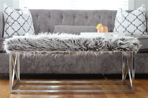 faux fur coffee table fabulous faux fur diy projects the budget decorator