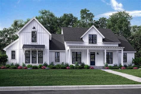 farmhouse building plans modern farmhouse plan 2 742 square 4 bedrooms 3 5