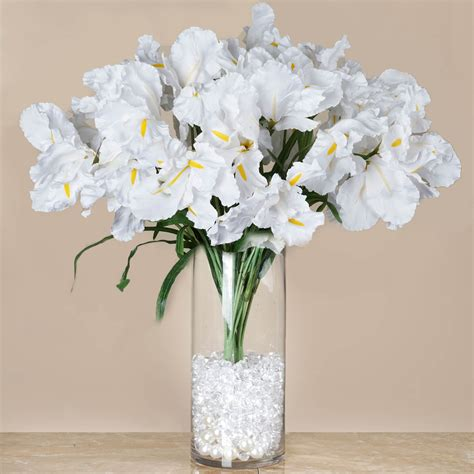 large silk iris bushes  wedding party artificial