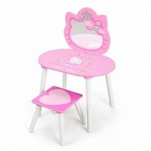 Coiffeuse En Bois Petite Fille : d corer une chambre d 39 enfant avec des accessoires et du petit mobilier hello kitty chambre d ~ Teatrodelosmanantiales.com Idées de Décoration