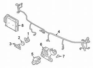 Volkswagen Tiguan Parking Aid System Wiring Harness  W  O R