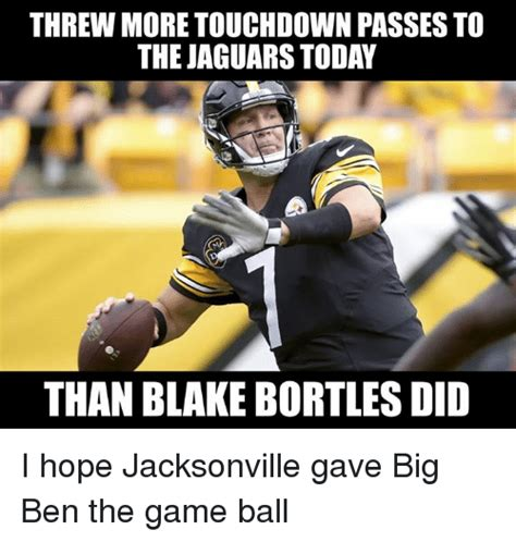 Jaguars Memes - threw more touchdown passes to the jaguars today than blake bortles did i hope jacksonville gave