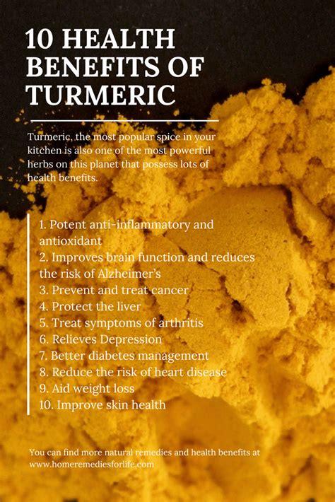 top  amazing health benefits  turmeric