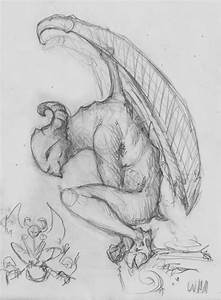 Gargoyle Sketch by Urkenstaff on DeviantArt