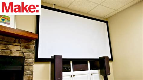 crafted workshop   build  diy projector screen
