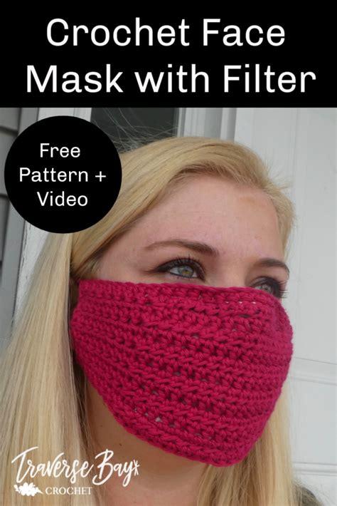 easy diy crochet face mask  filter
