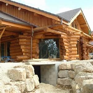 Maison En Rondin : maison rondin bois le dessin contemp ~ Melissatoandfro.com Idées de Décoration
